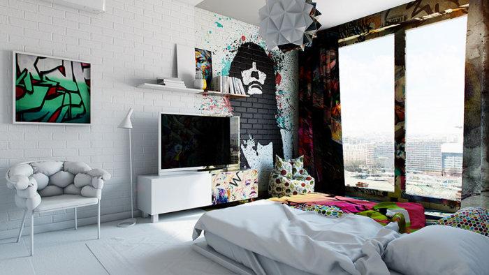 Двойная комната в исполнении украинского художника Павла Ветрова (6 фото)