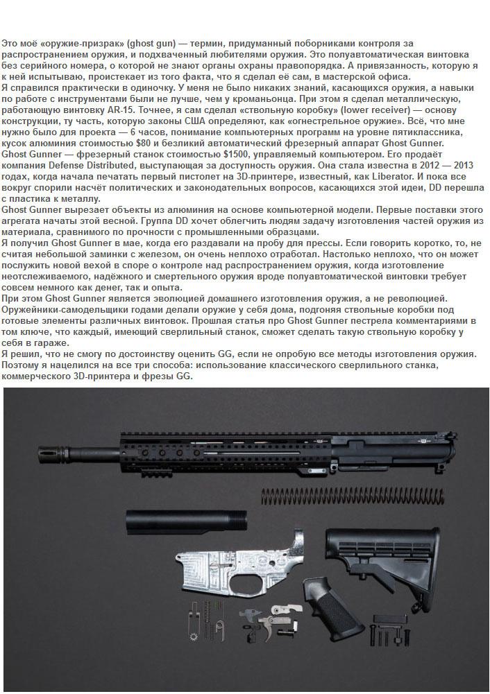 Самодельная винтовка, которую нельзя отследить (9 фото + видео)