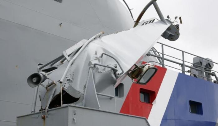 Российский парус «Крузенштерн» повредил два корабля береговой охраны Исландии (3 фото + видео)