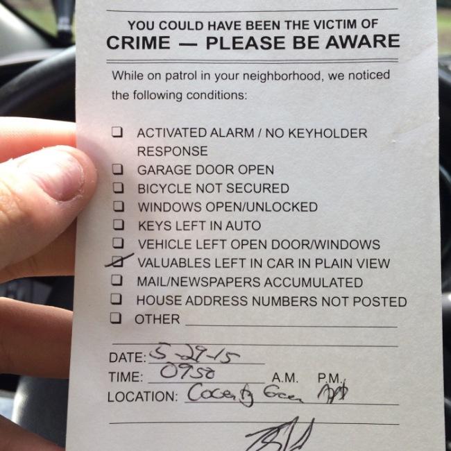 Профилактика совершения преступления от американских полицейских (2 фото)