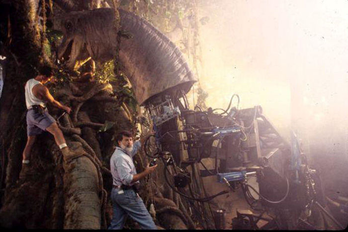 Кадры со съемочной площадки фильма «Парк юрского периода» (40 фото)