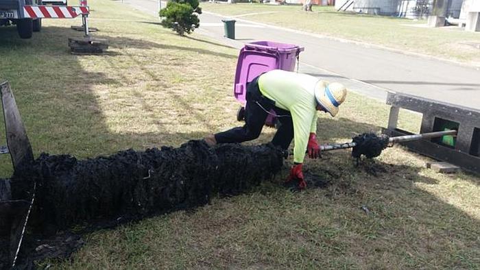 Австралийские коммунальщики борются с влажными салфетками (6 фото)
