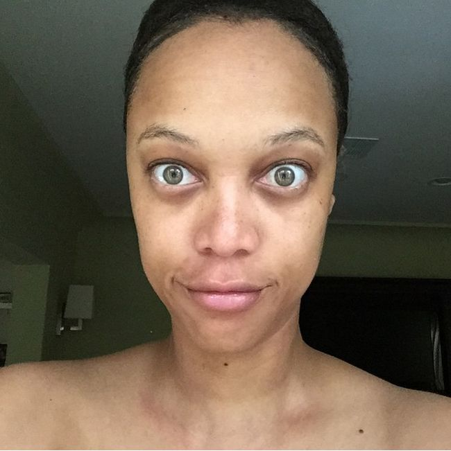 Супермодель Тайра Бэнкс опубликовала снимок без макияжа (2 фото)