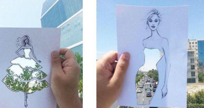 Фотографии с прикольными оптическими иллюзиями (31 фото)