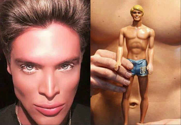 Маурисио Гальди, «человеческий двойник куклы Кена», перенесший 8 пластических операций (19 фото)