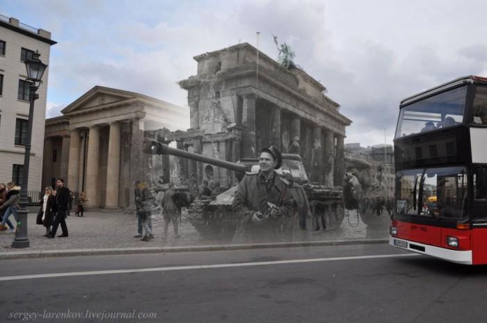 Фотореконструкция: Берлин в послевоенные годы и в наши дни (50 фото)