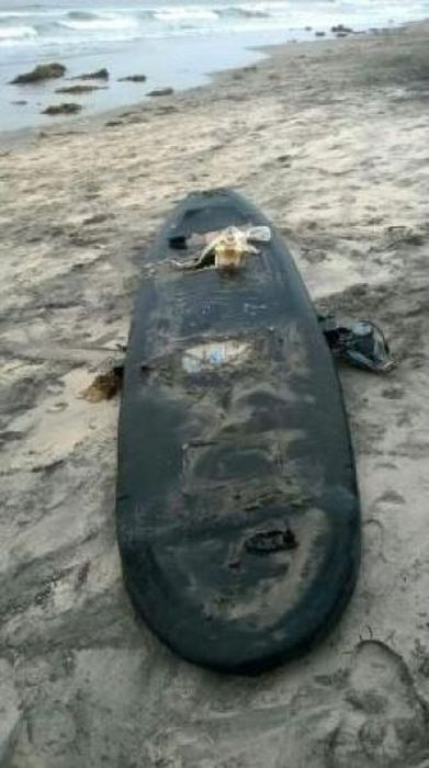 Контрабандисты намеревались переправить наркотики из Мексики в США на моторизированной доске для серфинга (6 фото)
