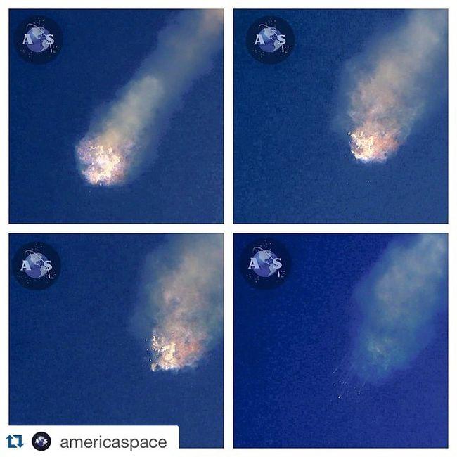 Ракета Falcon 9 взорвалась спустя 2 минуты после старта (9 фото + видео)