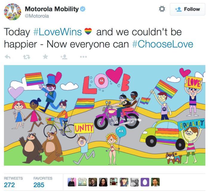 Крупные компании поздравили ЛГБТ-сообщество с легализацией однополых браков в США (43 фото)