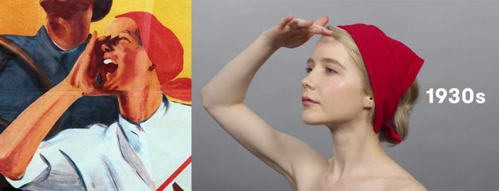 Реальные прототипы женских образов в видео «Сто лет красоты» про Россию (12 фото + видео)