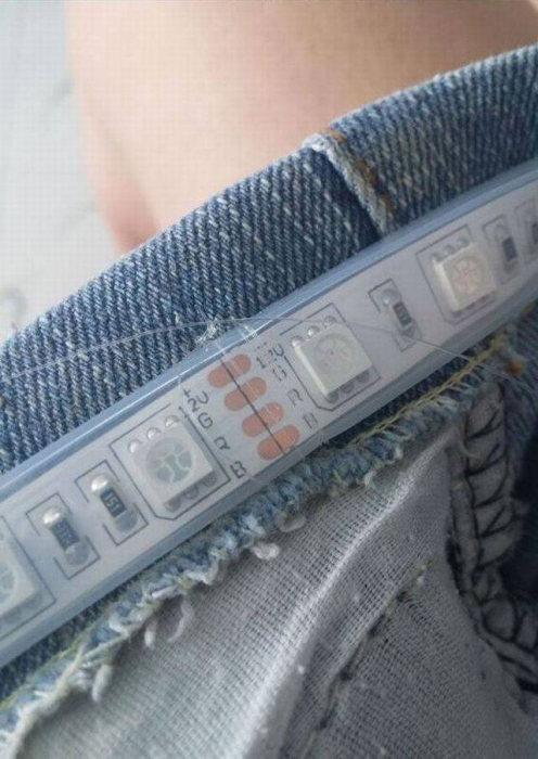 Мини-юбка с подсветкой (7 фото)