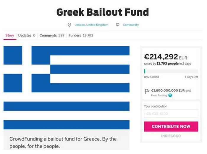 Продавец обуви из Лондона собирает средства для спасения Греции от дефолта (2 фото)