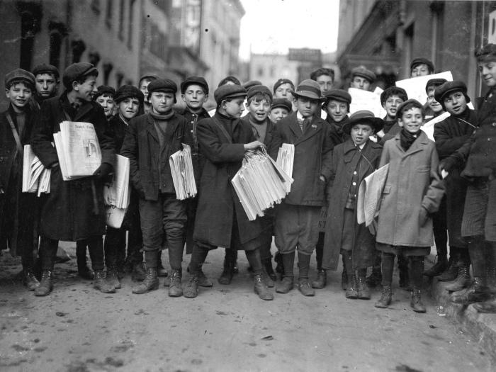Работающие американские дети начала XX века (27 фото)
