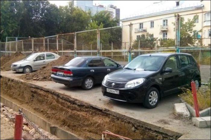 Что бывает, если вовремя не убрать свой автомобиль (3 фото)