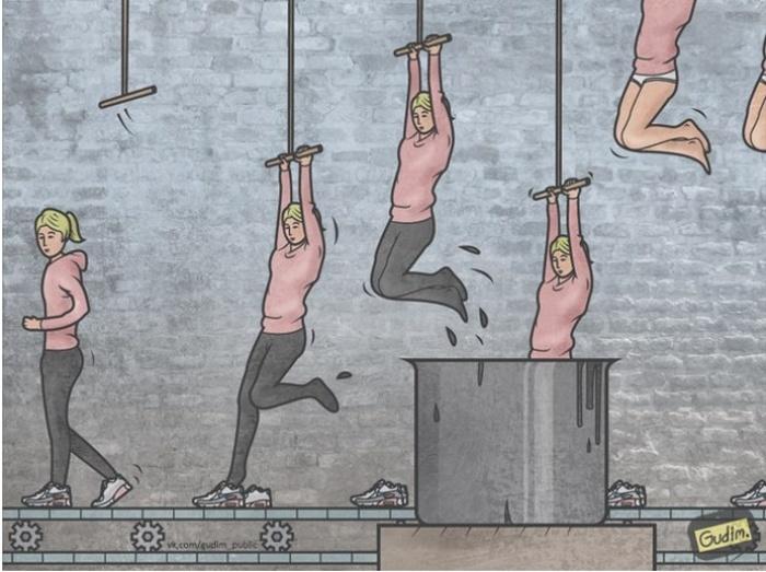 Позитивный сарказм в работах иллюстратора Антона Гудима (22 картинки)