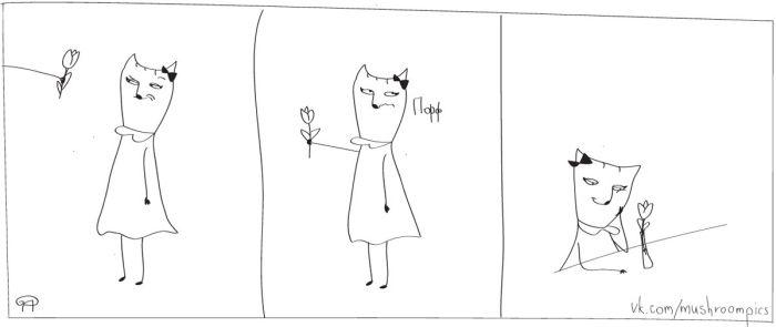 Проблемы кошки Котечки, до боли знакомые всем женщинам (31 картинка)