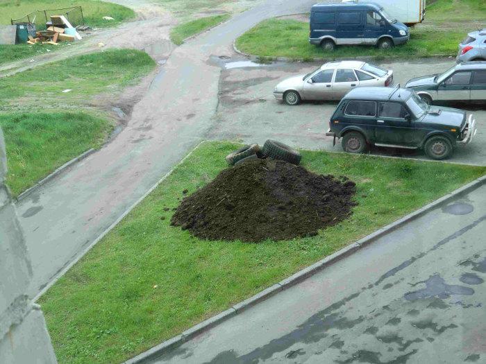 Клумба, как средство борьбы с любителями парковки на газонах (11 фото)