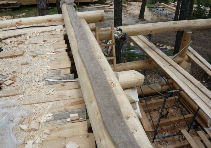 Фтоотчет о строительстве рубленной кедровой бани (50 фото)