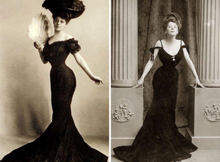 Идеалы женской фигуры минувшего столетия (27 фото)