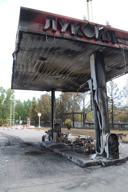 В Пензе взорвалась автозаправка (2 фото + видео)