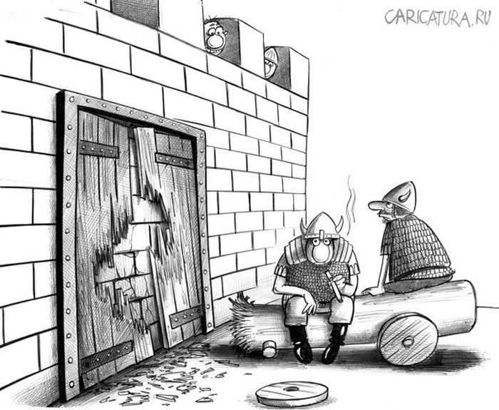 Забавные работы российского карикатуриста Сергея Корсуна (52 рисунка)