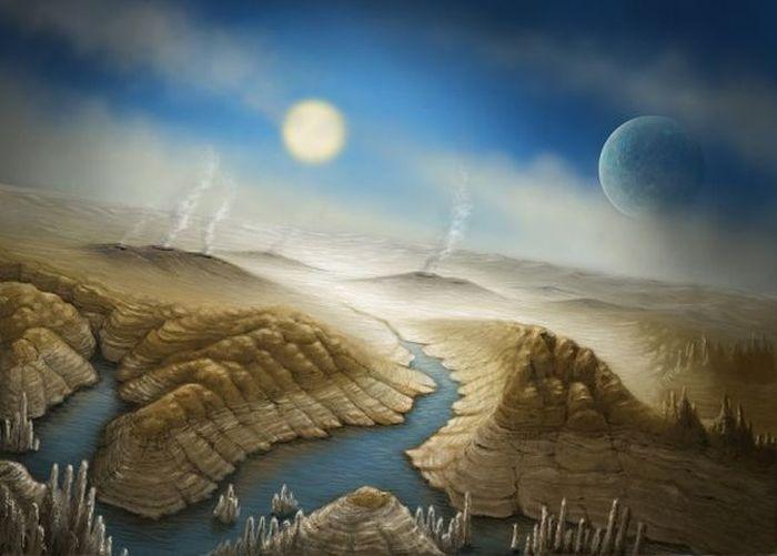 Ученые обнаружили первую землеподобную экзопланету (4 фото)