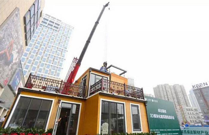 В Китае построили 2-этажный дом в течение 3 часов  (28 фото)