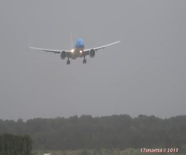 Посадка во время шторма