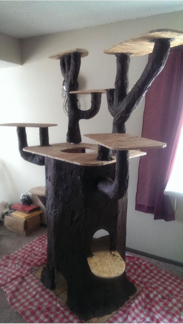Домики для кошек своими руками из подручных материалов