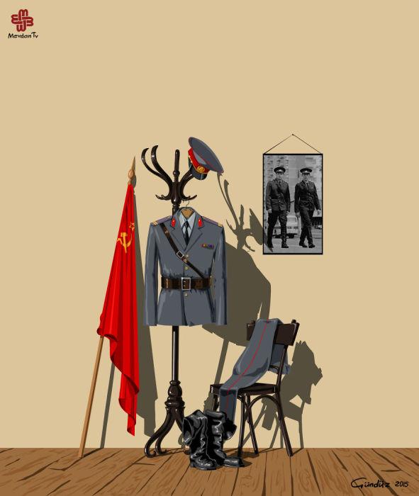 Полицейские разных стран мира на картинках Гундуза Агаева (16 рисунков)