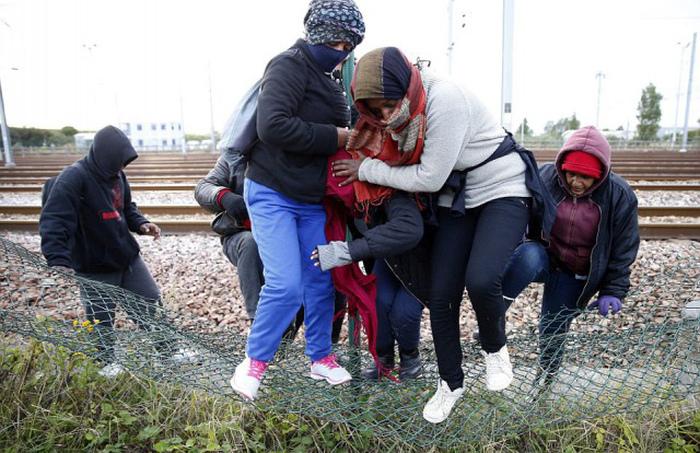 Нелегальные мигранты третий день штурмуют Евротоннель в надежде попасть в Великобританию (20 фото)