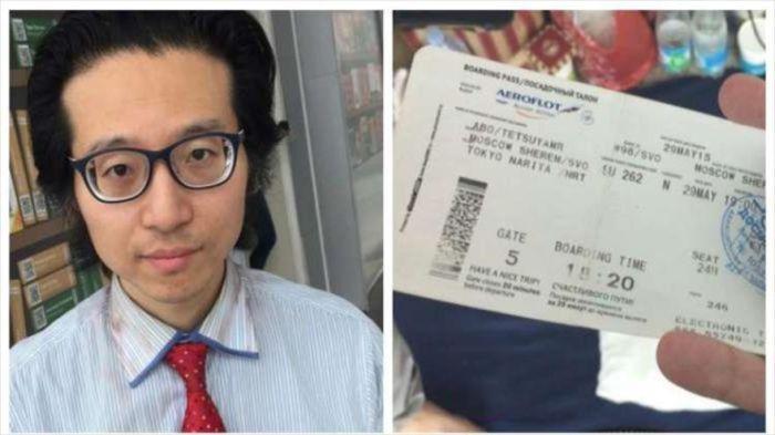 Японский журналист, живущий с конца мая в Шереметьево, обзавелся охраной и ограничил общение с прессой (5 фото)
