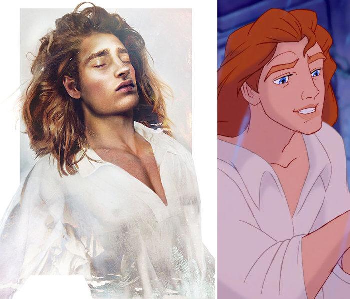 Какими бы были принцы из диснеевских мультфильмов в реальной жизни (8 фото)