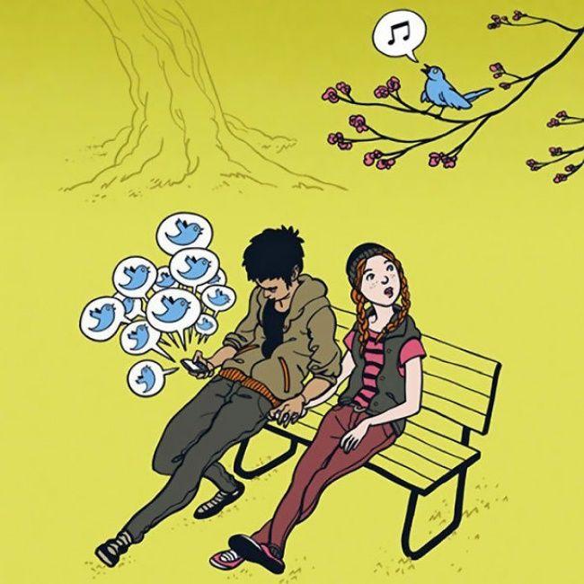 О роли смартфонов в нашей жизни (20 картинок)