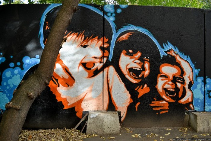 Известные личности в исполнении уличных художников (28 фото)