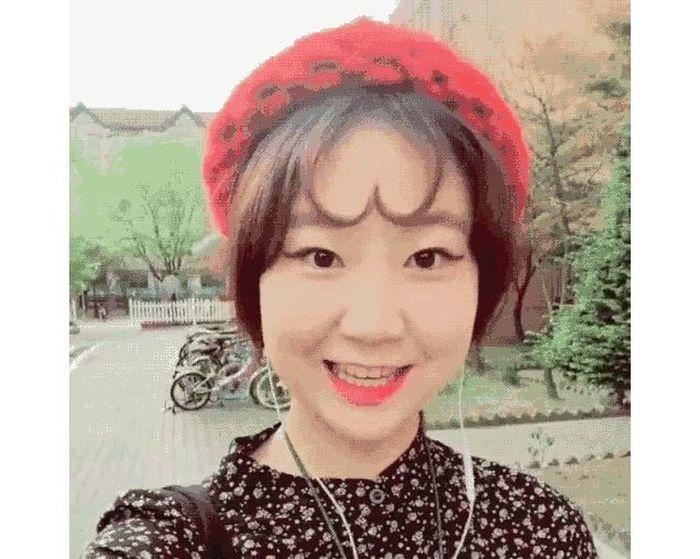 Челки в виде сердечек – новый тренд среди корейских девушек (14 фото)