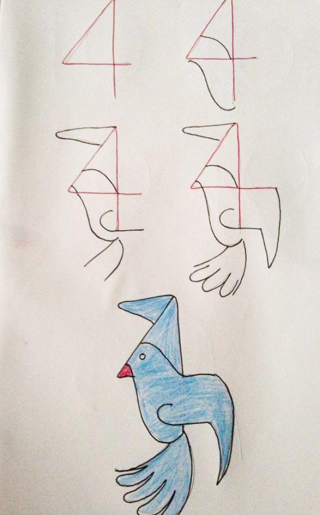 Как при помощи цифр привить ребенку любовь к математике и рисованию (20 картинок)