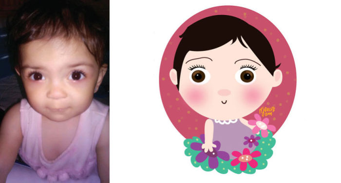 Милые рисунки по детским фотографиям (25 фото)