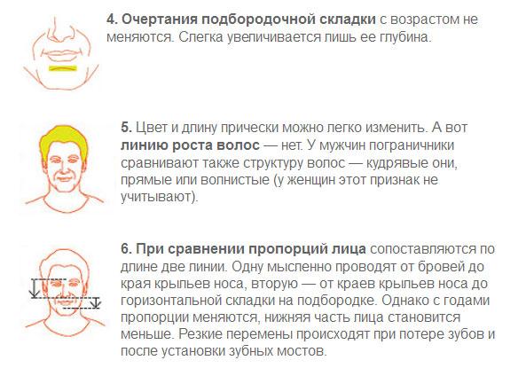 Как сверяют наши лица со снимками в паспорте (4 картинки)