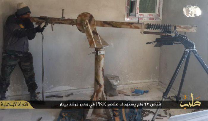 Самодельная крупнокалиберная винтовка «Исламского государства» (2 фото + видео)