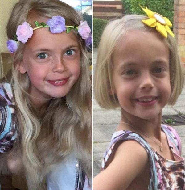 Не детский поступок маленькой девочки (6 фото)