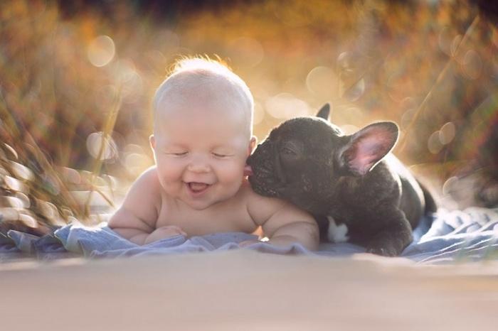 Крепкая дружба пятимесячных малышей (7 фото)