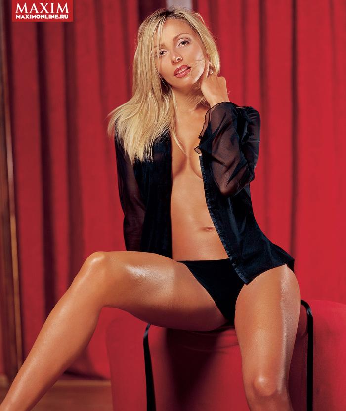 С сайта журнала Maxim исчезли полуобнажённые фото Татьяны Навки, жены Дмитрия Пескова. НЮ (5 фото)