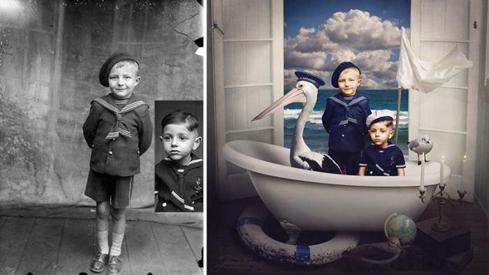 Отреставрированные и доработанные старые снимки (18 фото)