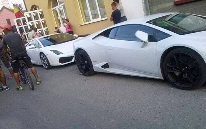 В Румынии прошла роскошная свадьба с дорогими машинами, каретой и вертолетом (11 фото + видео)