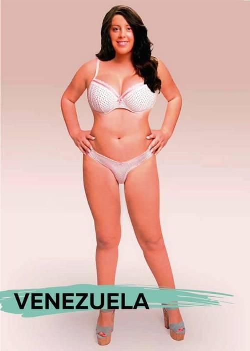 Идеалы женской красоты разных стран мира на примере одной девушки (19 фото)