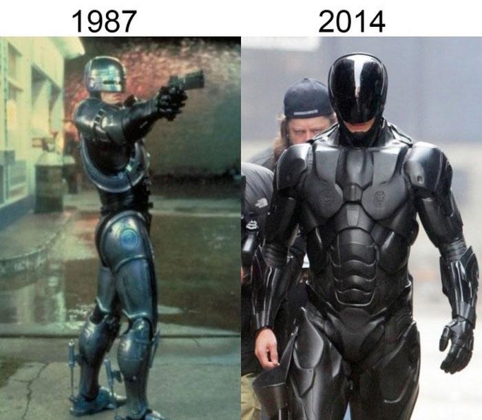 Как изменился грим и костюмы героев фильмов в результате ремейков и перезапусков