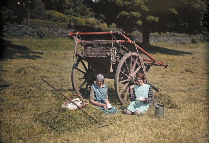 Цветные фотографии Великобритании и ее жителей, 20-е года XX века (21 фото)