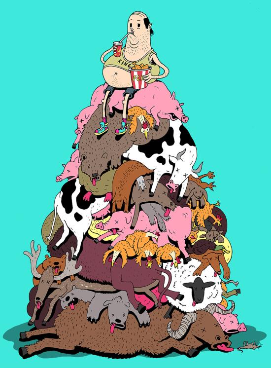 Современный мир в рисунках Стивена Каттса (16 рисунков)