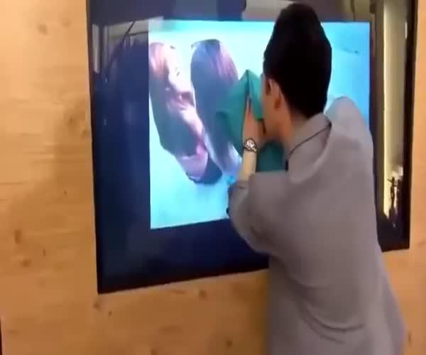 Прикольный фокус с телевизором